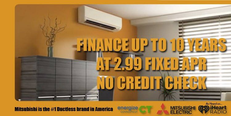 mitsubishi ductless air energize ct special financing program