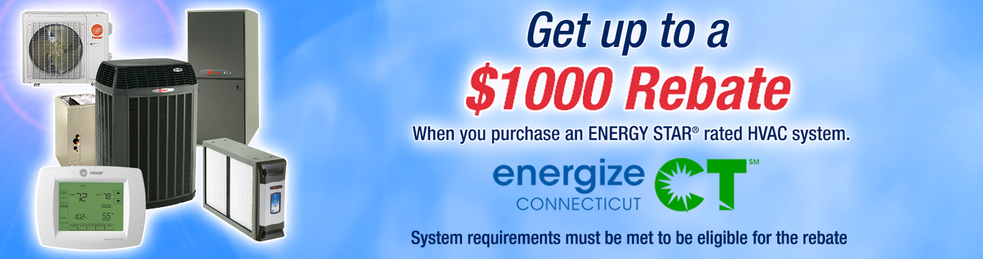 Connecticut Heating and Air Conditioning Installation Rebate for energizeCT