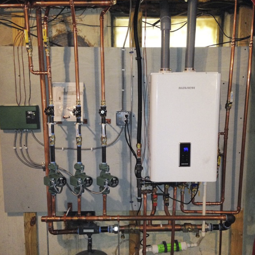 Navien Ncb 210 Oil To Gas Conversion Boiler Installation